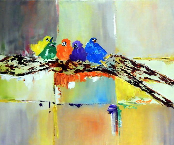 Five baby Birds - One Studio