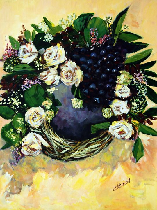 Flower and Grapes - One Studio