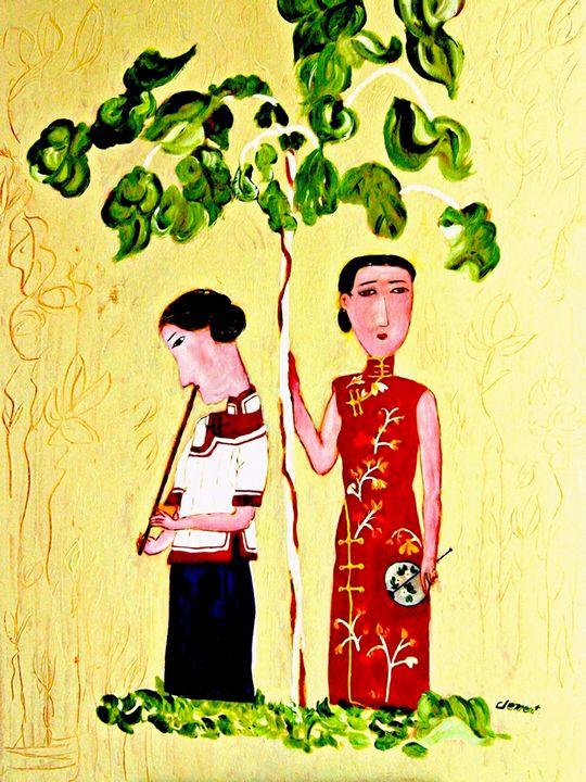 Ladies under the Tree - One Studio