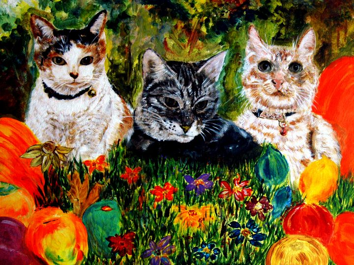 Cats at the Garden - One Studio