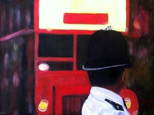 Police and London Bus