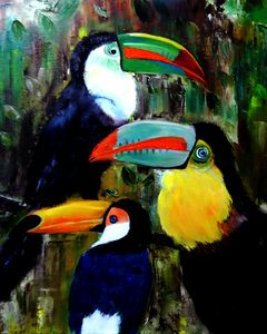 Three Toucans