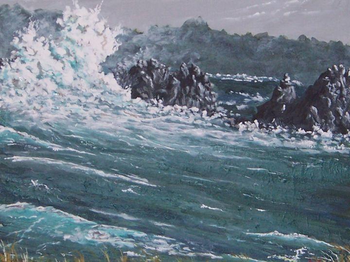 Big Sur Storm Surge - Southwestern Paintings by David
