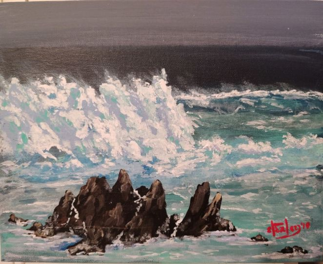 Offshore Storm - Southwestern Paintings by David