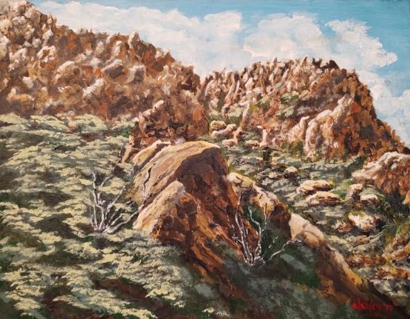 El Cajon Mt., East County San Diego - Southwestern Paintings by David