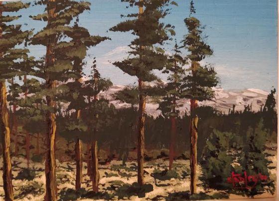 Nikole's Mountain Trip - Southwestern Paintings by David