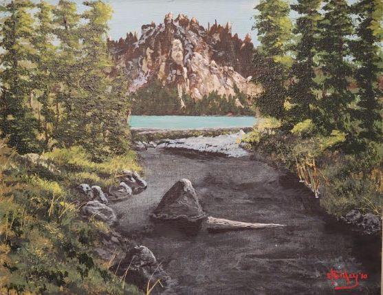 Sawtooth Mountains, Idaho - Southwestern Paintings by David