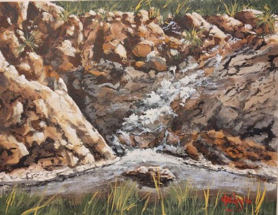 Cuyamacha Hidden Jewel - Southwestern Paintings by David