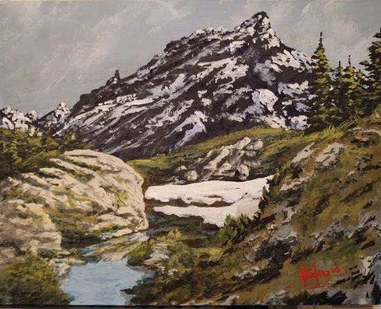 A view of the Sierra Nevadas - Southwestern Paintings by David