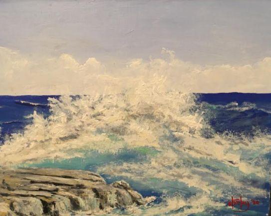 Crashing - Southwestern Paintings by David