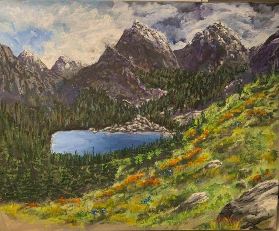 Paeks and Meadow - Southwestern Paintings by David