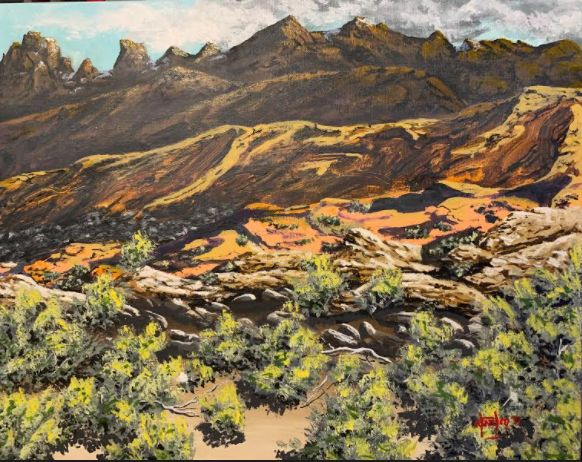 Sangre De Cristo Mountains, New Mex. - Southwestern Paintings by David