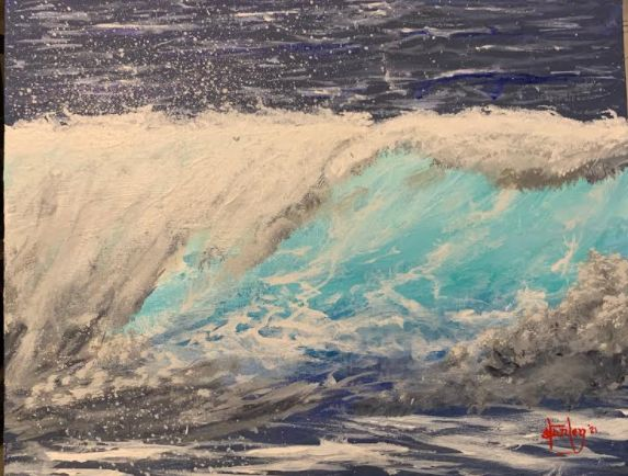 San Diego Waves - Southwestern Paintings by David