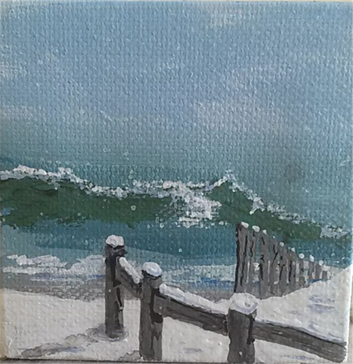 Snow on the breakers - Southwestern Paintings by David