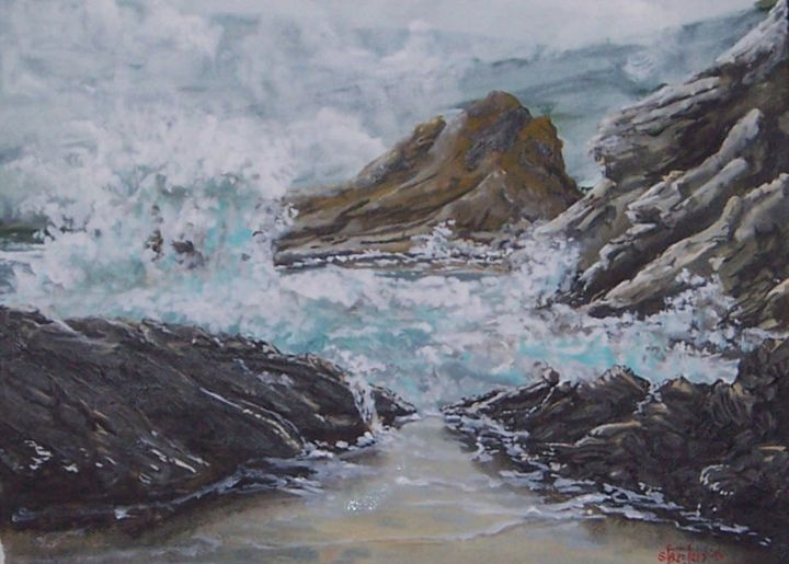 Stormy Pacific Coast - Southwestern Paintings by David