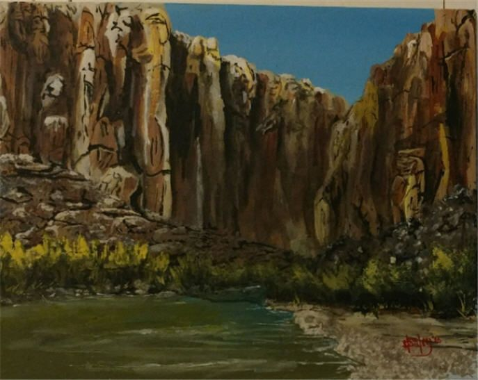 Rio Grande - Southwestern Paintings by David