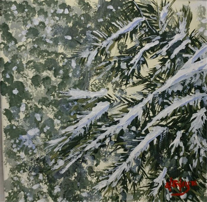 Snowy Day - Southwestern Paintings by David