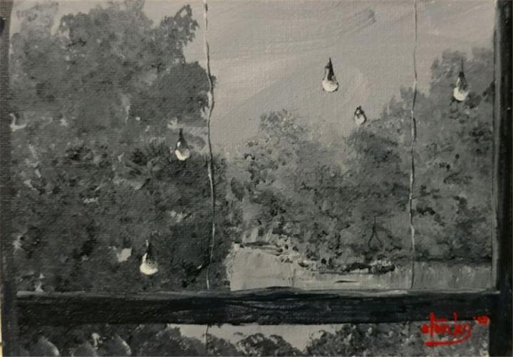 Rainy San Diego Weekend - Southwestern Paintings by David