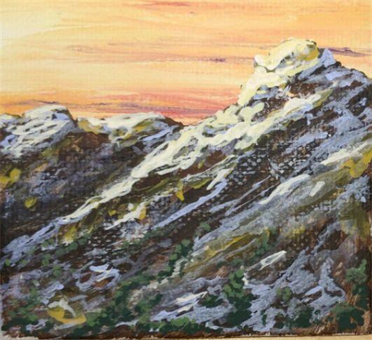 Evening Peaks - Southwestern Paintings by David