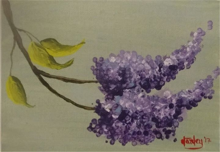 Lilac Blossoms - Southwestern Paintings by David