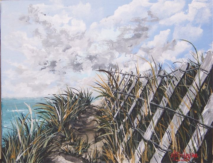 My Beach Path - Southwestern Paintings by David