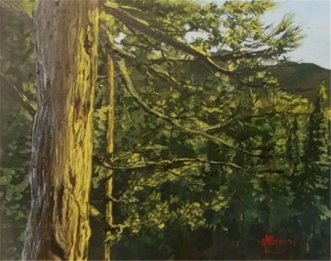 Sierra Sunrise - Southwestern Paintings by David