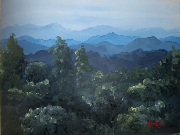 Back Country Evening - Southwestern Paintings by David