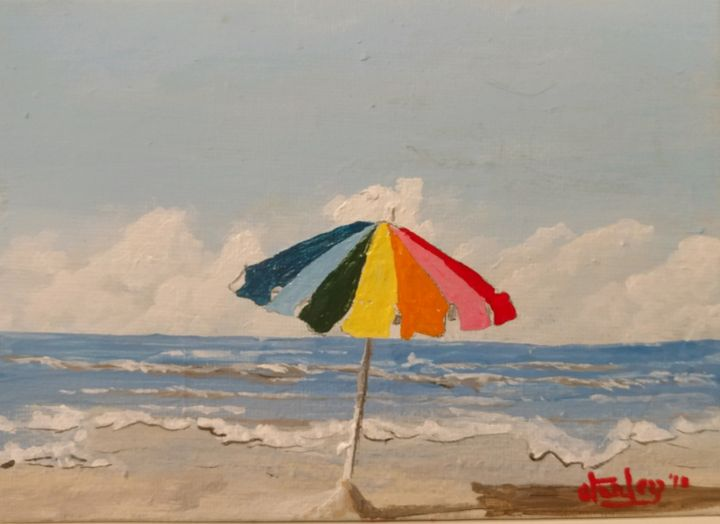 A Day At The Gulf - Southwestern Paintings by David