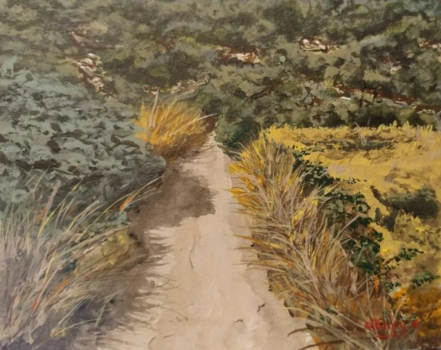 Path in the back country - Southwestern Paintings by David