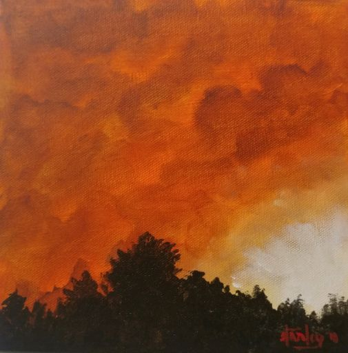 August in Southern California - Southwestern Paintings by David