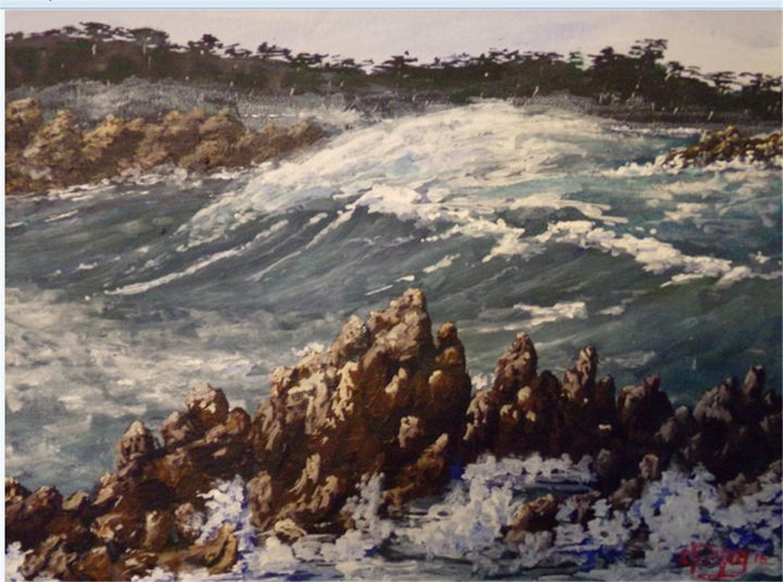 Coming To Monterey - Southwestern Paintings by David