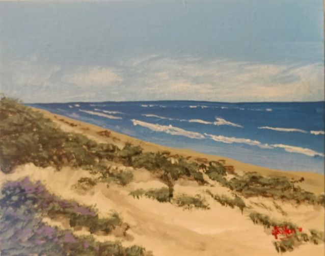 Padre Island, South Texas - Southwestern Paintings by David