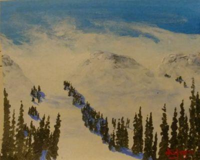 "Mammoth Mountain  225"" - Southwestern Paintings by David"