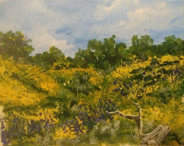 Explosive Desert Bloom - Southwestern Paintings by David