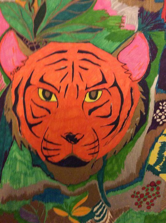 Tiger burning bright. - Glennis Cane