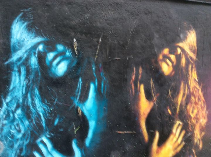 Long hair,graffiti. - Glennis Cane