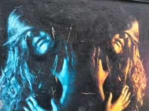 Long hair,graffiti. - Glennis Cane
