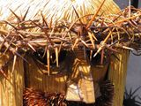 Toothpick sculpture of Jesus Christ