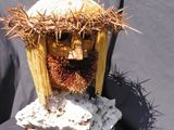 Tootpick sculpture of jesus christ