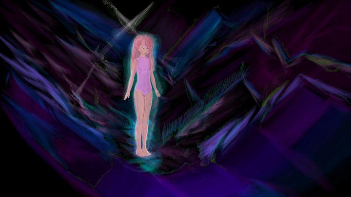 Girl in cave - JDupon