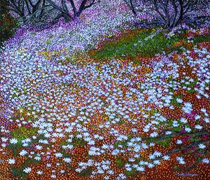 DANCING TO THE PALETTE OF LIFE - Sally Harrison's Dot Paintings