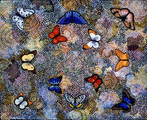 METAMORPHOSIS INTO SOMETHING ELSE - Sally Harrison's Dot Paintings