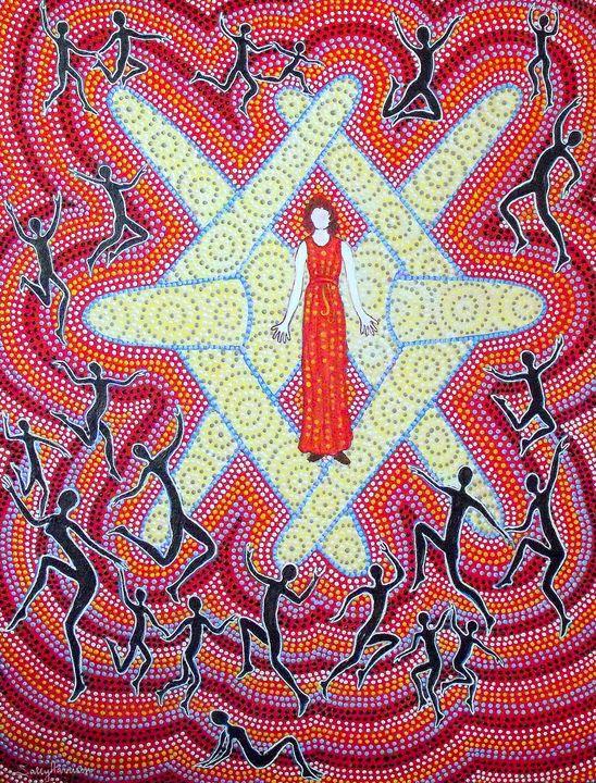 BELOVED STRANGER - Sally Harrison's Dot Paintings