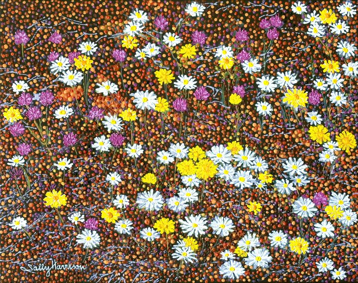 TRUE COLOUR & COLONIAL SYMBOLISM - Sally Harrison's Dot Paintings
