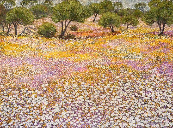 THE FLOWERS OF HEAVEN & MI-KHA-EL - Sally Harrison's Dot Paintings