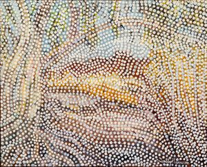 MAMMAE HILL PYRAMID STATION KARRATHA - Sally Harrison's Dot Paintings