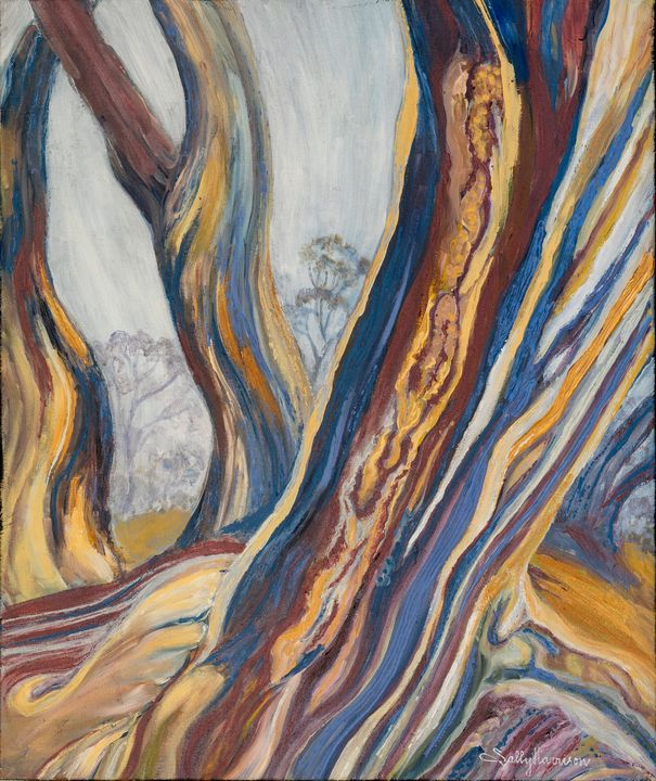SNOW GUMS RESTING PLACES OF THE URRU - Sally Harrison's Dot Paintings