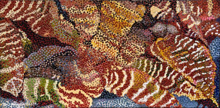 BROMELIAD - Sally Harrison's Dot Paintings