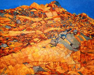 THE BURRUP WHERE I FOUND MY SOUL - Sally Harrison's Dot Paintings