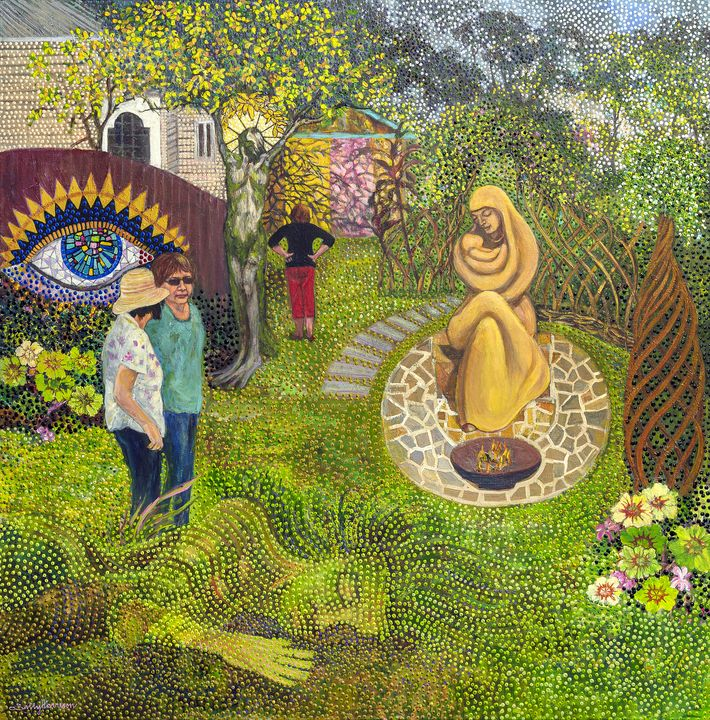 """AGES 2020 & """"ANGELS OF THE LORD"""" - Sally Harrison's Dot Paintings"""